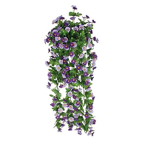 MagiDeal Artificial Silk Daisy Wisteria Hanging Flower Vine Wedding Decor Blue