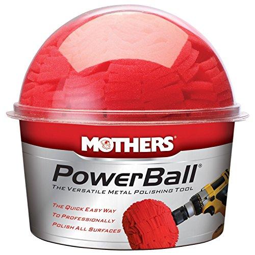 Preisvergleich Produktbild MOTHERS 05140 Power Ball Metallpolierwerkzeug Polierschwamm fuer Poliermaschine