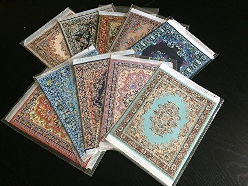 Preisvergleich Produktbild Set von 10Einzigartige gewebte Teppich Maus-Pads–Oriental & Türkisch Design Teppich mousemats Computer Mats–Bulk