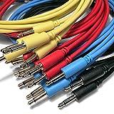 Eurorack Câbles de raccordement avec mini jack 3,5mm mono pour équipement (semi) modulaire et autre équipement utilisant des signaux de contrôle de la tension (15/30/60/90/150cm), lot de 5 60cm blanc...