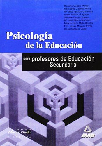Psicologia De La Educacion Para Profesores De Educacion Secundaria.