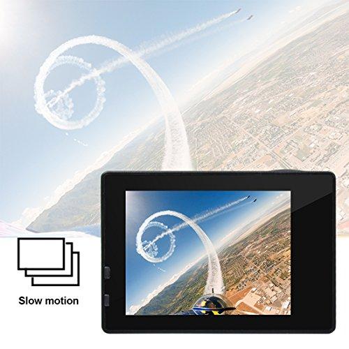Campark® ACT74 4k Wifi Ultra HD Resistente al agua Cámara de Acción Deportiva Temporizador y Grabación en Cámara Lenta Cámara de Casco Amplio Ángulo de Visión 170 DVR Videocámara (Regalo incluido de 23€: Maletín profesional +Batería de repuesto)