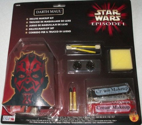 Star Wars Darth Maul Make Up Set Deluxe (mit Schädelkappe)