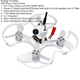 FPV Drohne mit Kamera EMAX PNP 85mm Mirco FPV Racer Drone Brushless (1104 5000kv Brushless Motor, Femto F3 AIO Flight Controller FC, All-in-One Kamera, VTX 25MW CMOS, Bullet 6A BLHeli_S Plug-In ESC) -