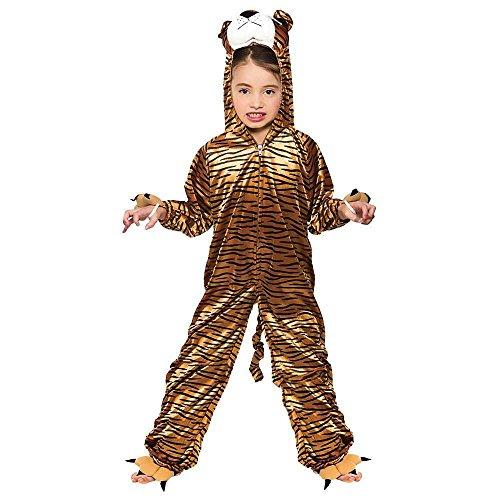 Tiger Animal Kids Fancy Dress Jungle Costume (Jungle Halloween Kostüm Ideen)