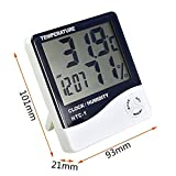 #1: By Siddhi Collection HTC-1 Tempreture Hygrometer ,Digital Temperature and Humidity Meter , Alarm And Celender Display