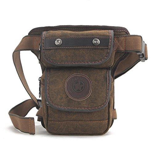 Shubb Leinwand Tactical Drop Leg Bag Pack Fanny Pack für Damen und Herren LL04