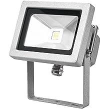 PowerSave - Foco LED, 12V, CC, 10W = 100W, ahorro de energía, para interiores o al aire libre, ideal para caravana, barco o furgoneta, sin interruptor para CA, blanco frío, iluminación de seguridad