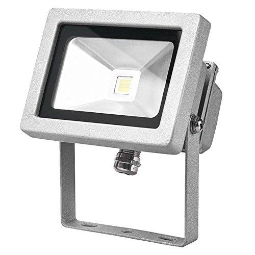 12 Volt DC 10 W = 100 W PowerSave 12v SMD LED, energiesparend, Flutlicht, für drinnen und draußen, Ideal für Wohnwagen, Boot, Wohnmobil und Wohnwagen, nicht AC Netzteil), Cool White, für normale und außen außen Sicherheitsleuchte (Low-voltage-verkabelung)