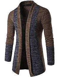 Sunward Men's Casual Cardigans Long Sleeve Slim Fit Open Front Shawl Collar Cardigans
