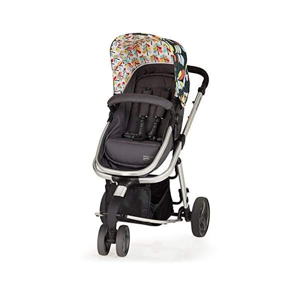 Cosatto Giggle Mix pram and Pushchair Nordik with car seat Base & raincover Cosatto Includes: Chassis,Seat unit, Hold Car seat,Isofix base,Car seat adaptors,Raincover, Apron and 4 Year guarantee(UK and Ireland only) Suitable from birth up to 15kg. One unit transforms from newborn pram mode into pushchair mode. Space saving. No need to buy separate carrycot.. Colour packs available so you can change the look to suit your mood, family and adventures. Includes hood, pram apron and padded pushchair apron. 6
