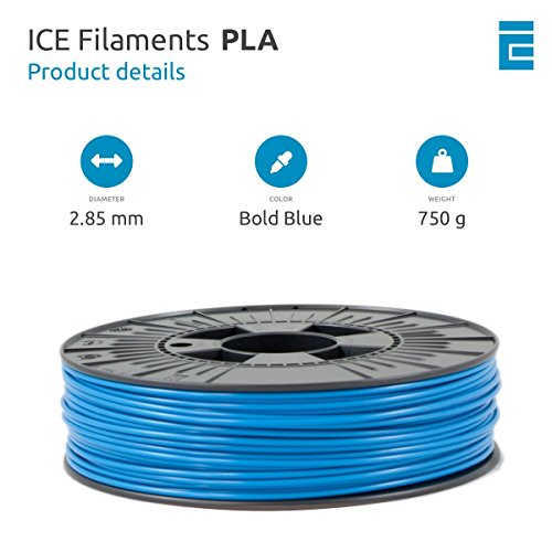 ICE FILAMENTS ICEFIL3PLA008 PLA Filament, 2,85 mm, 0,75 kg, Bold Blue - 2