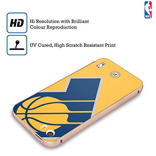 Ufficiale NBA Banner Indiana Pacers Oro Cover Contorno con Bumper in Alluminio per Apple iPhone 5 / 5s / SE Icona Oversize
