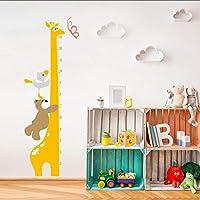 Fagreters 35Cm * 130Cm Cartoon Giraffe Bear Animals Height Measure Wall Stickers Home Decor DIY Chart Ruler Decoration for Kids Rooms Decals Wall Art