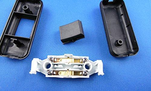 Schnur-Zwischenschalter Mit Schraubkontakten Schwarz, 2-polig, 2 A, 250 V~, Past für LED, SMD - 6