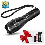 Vanble LED Hand Taschenlampe,IP65 wasserfest,superhell 900 Lumen CREE XML T6 Taschenlampe mit 5 Licht Modi, wiederaufladbare Taschenlampe mit Zoom für Camping, Wandern und Notfälle ( Inklusive 18650 Batterie )