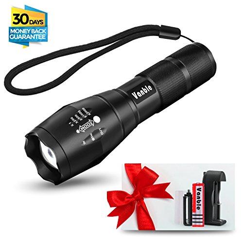 5 Licht Anhänger (Vanble LED Hand Taschenlampe,IP65 wasserfest,superhell 900 Lumen CREE XML T6 Taschenlampe mit 5 Licht Modi, wiederaufladbare Taschenlampe mit Zoom für Camping, Wandern und Notfälle ( Inklusive 18650 Batterie ))