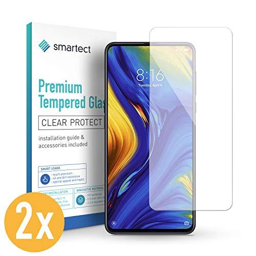 smartect Protector de Pantalla para Xiaomi Mi Mix 3 [2 Unidades] - 9H Cristal Templado - Diseño Ultrafino - Instalación Sin Burbujas - Anti-Huellas