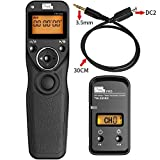PIXEL TW-283/DC2 LCD Kabelloser Fernauslöser Kabellos Timer-Fernauslöser für Nikon SLR-Digitalkameras D3100, D5000, D7200, D600, D610, D750, D3200, D3300 Coolpix: P7700, P7800, Coolpix A