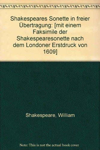 Sonette. Deutsch/Englisch. Übersetzt von Ulrich Erckenbrecht.