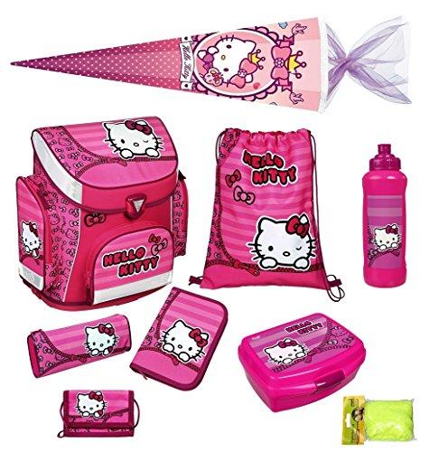 Hello Kitty Schulranzen Set 9-teilig mit Schultüte 85cm, Brotdose und Trinkflasche Modell: Scooli von Undercover HKSU8251-2016 (Hello Kitty Schulrucksack)