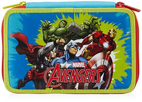 Seven avengers 339011603-519 astuccio per scuola, 3 scomparti, poliestere, blu