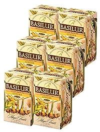 Basilur, Magic Fruits Collection, Single Origin, 100% Pure Ceylon Tea, Ginger, 20 Count Foil Enveloped (Pack of 6)
