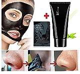 Boolavard® rimozione di comedone di pulizia profonda Peel Off acne Black Mask + Striscia Poro