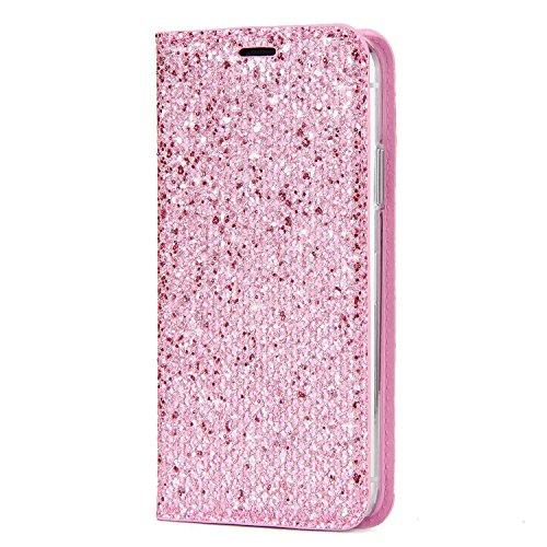 Custodia-iPhone-X-iPhone-X-Custodia-Pelle-JAWSEU-iPhone-X-Protezione-Libro-Disegno-lusso-paillettes-glitter-bling-Wallet-Leather-Flip-Case-Cover-Custodia-per-iPhone-X-Cover-Copertura-Goffratura-Farfal