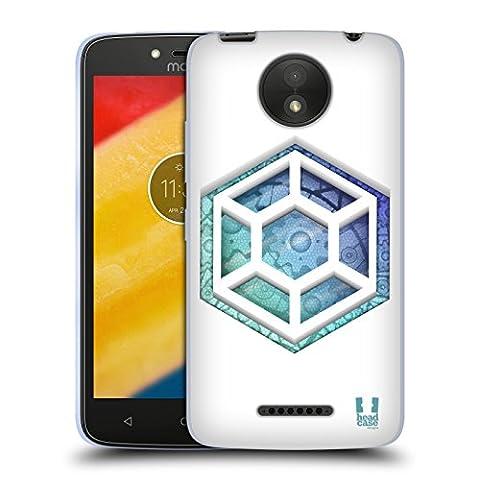Head Case Designs Hexagon Getriebe Soft Gel Hülle für Motorola Moto C Plus