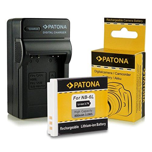 Cargador + Batería NB-6L para Canon Digital Ixus 85 IS | 95 IS | 105 | 200 IS | 210 IS | 300 HS | 310 HS - Canon PowerShot D10 | D20 | S90 | S95 | SX240 HS | SX260 HS | SX270 HS | SX280 HS | SX500 IS