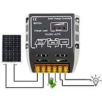 FairytaleMM 20A 12V / 24V Solarpanel Laderegler Batterie Regler Safe Protective (Farbe: Schwarz)