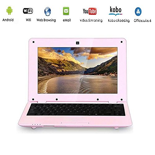 G-Anica Portatile, Display LCD 10.1 Pollici HD (Wifi, 1.5GHz 4 Go RAM 512 Mo) Netbook -Google Android 4.4.2 - Rosa
