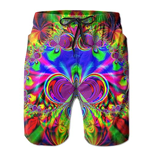 artyly Pixel und Algorithmen Sommeranzug Herren Strandhose Mit Taschen, Größe XL