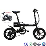 MOIMK Erwachsenes Faltendes Elektrisches Fahrrad 16 Zoll 40-60KM Lange Batterielebensdauer/Vordere Und Hintere Mechanische Scheibenbremsen 36V7.8AH Batterie/LED-Scheinwerfer/DREI Fahrmodi