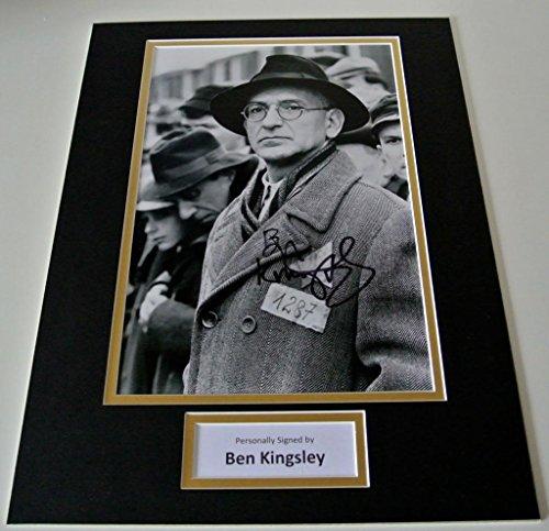 sportagraphs-ben-kingsley-signed-autograph-16x12-photo-mount-display-schindlers-list-film-coa-perfec