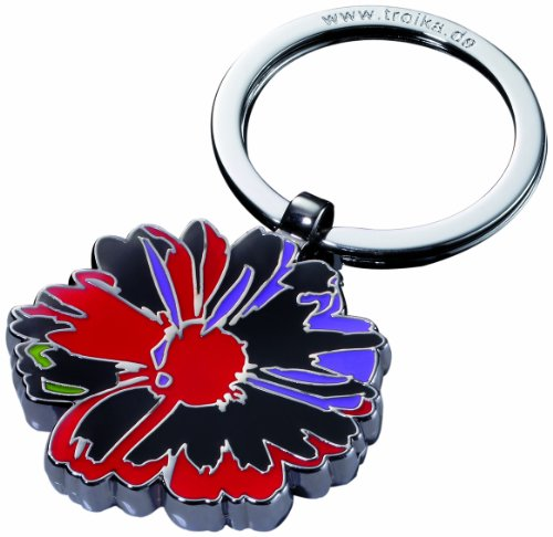 andy-warhol-by-troika-metal-casting-shiny-chrome-plated-enamel-flowers-keyring