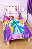 Character World Disney Princess Sparkle Rotary Print Duvet Set, Polyester, Multi-Colour, Single