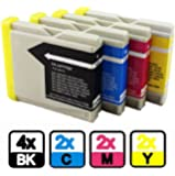 AA+inks Compatible Ink Cartridges Replacement for Brother LC970 LC1000 LC960(10Ink: Contains: 4x LC 970BK - 2x LC 970C - 2x LC 970Y - 2x LC 970M)