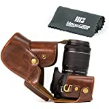 MegaGear Etui souple en cuir pour, Housse pour Canon EOS Rebel SL1 avec 18-55mm EF-S IS STM , Canon