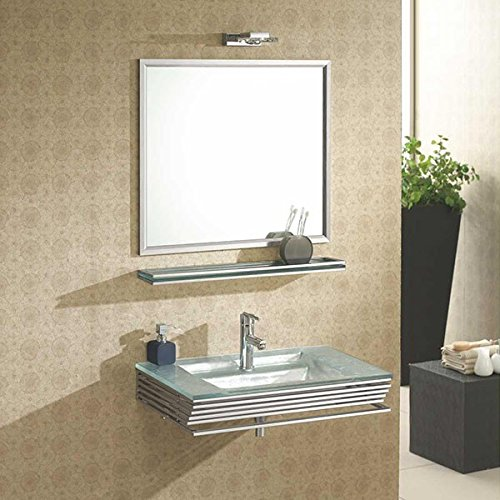 Wikao lavabo Verre Opal - Argent