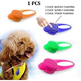 Flashing Dog Safety Collar Blinker, LaRooTM Flashing LED Pet Dog Safety Light Cat Safety Light with Built-in Battery Glow Bright in the Dark Safety