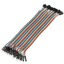 Ils - 40 Piezas 20cm Macho a Hembra Cable de Puente para Arduino