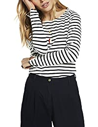 Scotch & Soda Damen T-Shirt Basic Fit Breton Stripe L/S Tee