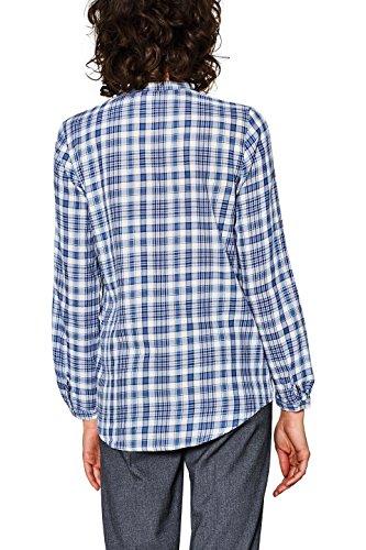 ESPRIT Damen Bluse Mehrfarbig (Dark Blue 405)
