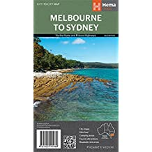 Melbourne to Sydney 1 : 900 000: Via the Hume and Princes Highways. City map / 24-hour fuel / Camping areas / Distance charts / Tourist attractions / Roadside rest areas