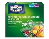 Toppits Mini Zip–Beutel mit Reißverschluss/Beutel (20x 150ml + 20x 380ml/mit Bügelverschluß)