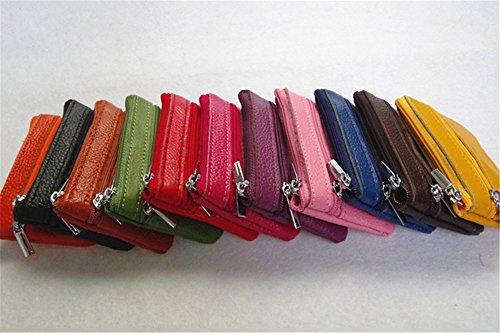 Swallowuk Donna Mini Sacchetto di Cuoio Borsa Della Moneta Creativa Zipper Portafogli (Rosso) Blu