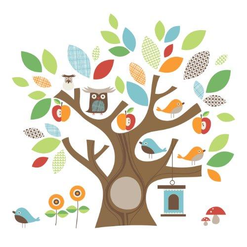 Skip Hop 185110 Wandfiguren, Sticker und Holzbuchstaben, Treetop Friends