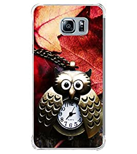 Brass Owl Watch with Autumn Leaves 2D Hard Polycarbonate Designer Back Case Cover for Samsung Galaxy Note5 :: Samsung Galaxy Note5 N920G :: Samsung Galaxy Note5 N920T N920A N920I